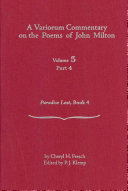 A Variorum Commentary on the Poems of John Milton  pt  4  Paradise Lost  Book 4 PDF