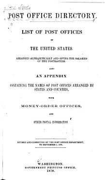 List of Post Offices and Postmasters in the United States PDF