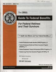 Guide to Federal Benefits for Federal Retirees and Their Survivors PDF