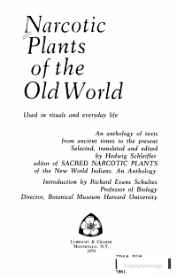 Narcotic Plants of the Old World Used in Rituals and Everyday Life PDF