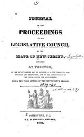 Journal of the Proceedings of the Legislative-Council of the State of New-Jersey: Volume 64