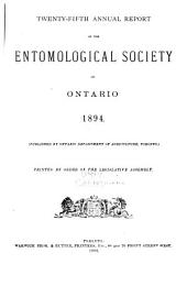 Annual Report of the Entomological Society of Ontario: Volumes 25-28