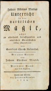 Unterricht in der natürlichen Magie, oder zu allerhand belustigenden und nützlichen Kunststücken: 3