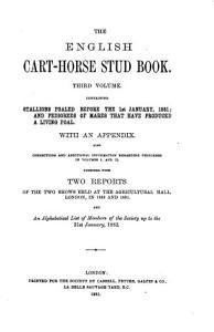 THE ENGLISH CART HORSE STUD BOOK PDF