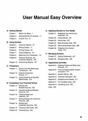 Quicken   User Manual