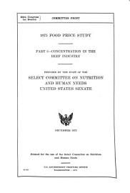 1975 Food Price Study  Concentration in the beef industry PDF
