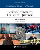 Introduction to Criminal Justice PDF