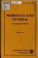Morocco and Tunisia  a Comparative History PDF