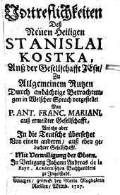 Vortrefflichkeiten des h. Stanislaus Kostka