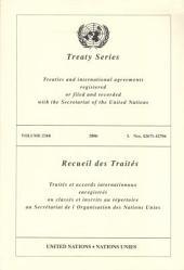 Treaty Series / Recueil Des Traites