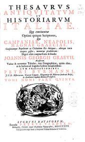 Thesaurus antiquitatum et historiarum Italiae ...: Campaniae, Neapolis, Magnae Graeciae ...