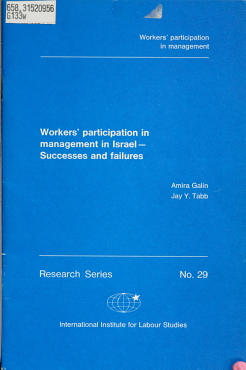 Workers Participation in Management in Israel PDF