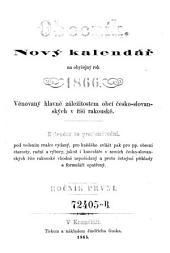 Obecnik. Novy kalendar na obycejny rok ... (Der Gemeinde-Insass. Neuer Kalender, hauptsächlich den Gemeinde-Angelegenheiten gewidmet): Svazek 1
