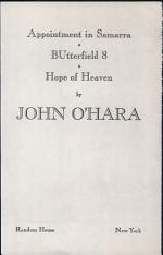 APPOINTMENT IN SAMARRA, BUTTERFIELD 8, HOPE OF HEAVEN