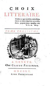 Choix littéraire: Volume3