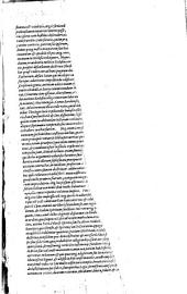 De tribus Elohim, aeterno patre, filio, et spiritu Sancto