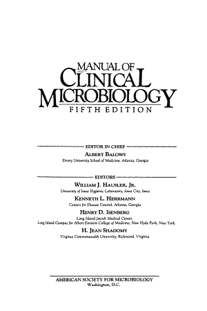 Manual of Clinical Microbiology PDF