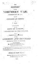 The history of the northern war  commencing in 1812  to the Congress at Vienna in 1815 PDF