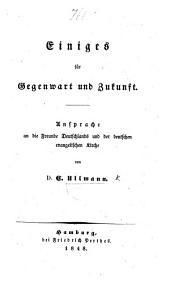 Einiges für Gegenwart und Zukunft, Ansprache an die Freunde Deutschlands und der deutschen evangelischen Kirche