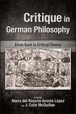 Critique in German Philosophy