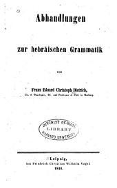 Abhandlungen zur hebräischen Grammatik