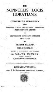 De nonnullis locis Horatianis