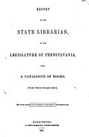 Report of the State Librarian PDF