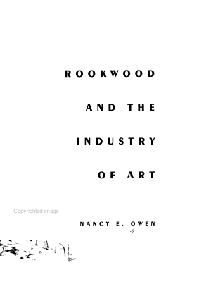 Rookwood and the Industry of Art PDF