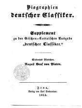 August Graf von Platen's Biographie: complet in einem Bändchen