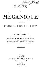 COURS DE MECANIQUE