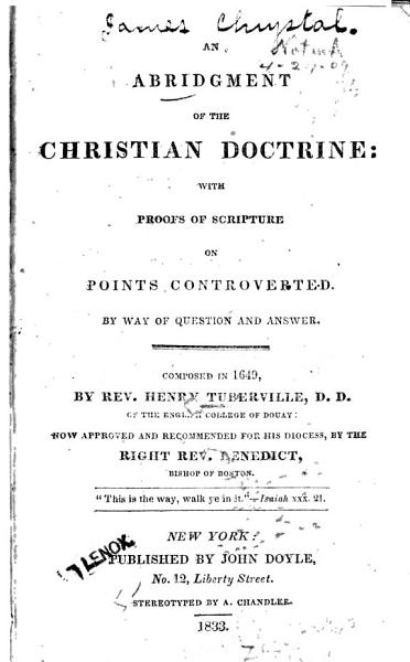 An Abridgment of the Christian Doctrine