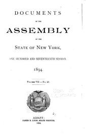 Documents of the Assembly of the State of New York: Volume 7