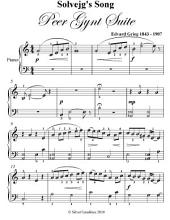 Solvejg's Song Peer Gynt Suite Easy Piano Sheet Music