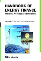 Handbook Of Energy Finance  Theories  Practices And Simulations PDF