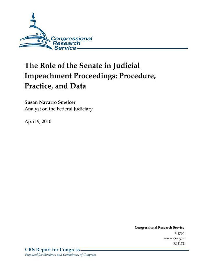 Role of the Senate in Judicial Impeachment Proceedings