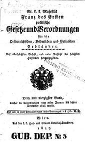 Sr. K.k. Majestät Franz des zweyten Politische Gesetze und Verordnungen für die oesterreichischen, böhmischen und galizischen Erbländer: Band 43