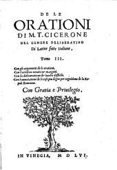 Orationi Di M. T. Cicerone Di Latine fatte Italiane ...