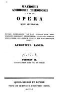 Macrobii Ambrosii Theodosii Opera Quae Supersunt     PDF
