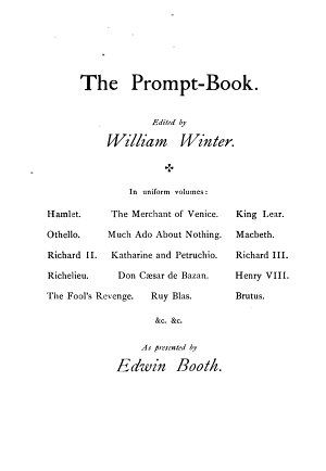 Shakespeare s Tragedy of King Lear as Presented by Edwin Booth PDF