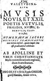 Valetudinarium, musis novis ... hymenaeum Jac. Reihingi ... errectum
