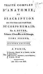 Traité complet d'anatomie, ou Description de toutes les parties du corps humain: Volume2