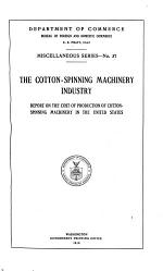 The Cotton-spinning Machinery Industry