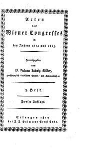Acten des Wiener Congresses, in den Jahren 1814 und 1815: Band 2
