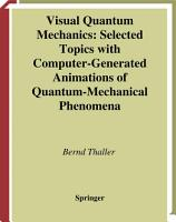 Visual Quantum Mechanics PDF