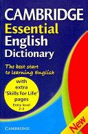 Cambridge Essential English Dictionary  Skills for Life