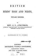 British Birds' Eggs and Nests