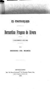 In memoriam: Bernardina Fragoso de Rivera: diciembre 31 de 1863