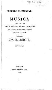 Principj elementari di musica ... Con tavole