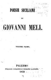 Poesie siciliane: Volume 1