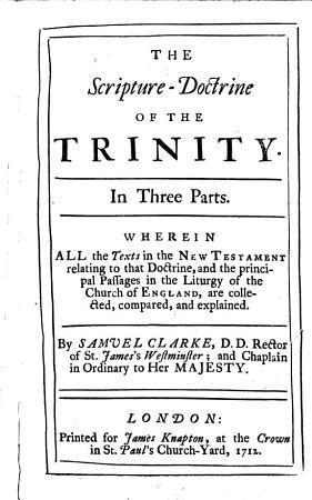 The Scripture doctrine of the Trinity PDF
